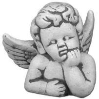 Figura ogrodowa betonowa aniołek 18cm 67_s101036