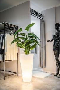 Decolovin Donica podświetlana Della 90cm światło ciepłe LC-DELLA90-LED-CW