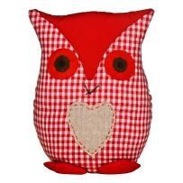 Premier housewares Owl-stoper do drzwi czerwony