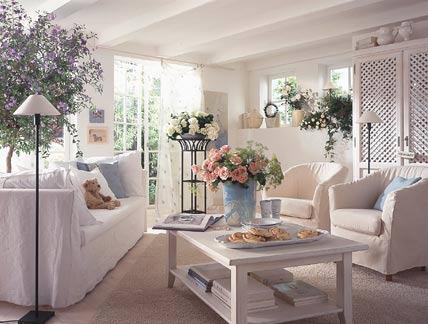 wohnzimmer weiß grau landhaus | rheumri, Wohnzimmer dekoo