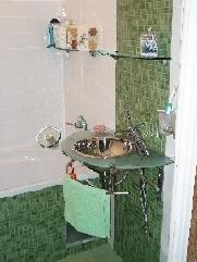 Re Zielono Biała łazienka Semi Do Fuzzy Zdjęcia Na