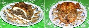 Kurczak faszerowany z sosem zio�owym - ugotuj