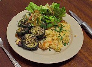 Tofu zapiekane z warzywami