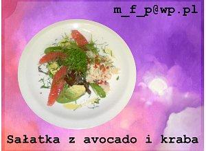 Sałatka z awokado i kraba - ugotuj