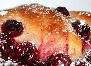 Ciasto dro�d�owe z wi�niami - ugotuj