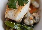 Sma�ony dorsz na warzywnym ragout - przepis blogera