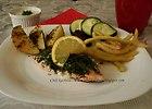 �oso� na parze z warzywami
