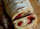 Strucla krucho-dro�d�owa z truskawkami - przepis blogera