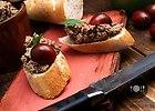 Pasta z w�tr�bki z czosnkiem i koniakiem oraz dodatkiem tymianku z rozmarynem