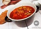 Pikantna zupa pomidorowa z suszonymi pomidorami i bia�� fasol�