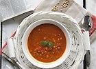 Zupa pomidorowa z soczewic� i mas�em orzechowym - przepis blogera