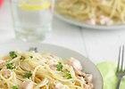 Spaghetti z �ososiem w sosie pietruszkowym - przepis blogera
