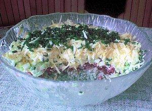 Ryżowa sałatka warstwowa - ugotuj