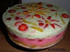 Tęczowe ciasto bez pieczenia - ugotuj