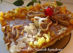 Mazurek kajmakowy - ugotuj