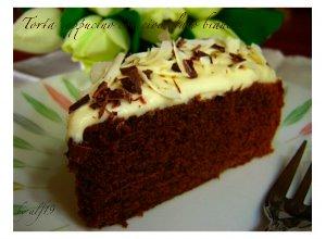 Tort cappuccino z bia�� czekolad� - ugotuj