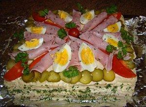 Szwedzki tort kanapkowy - ugotuj