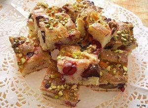 Ciasto �mietankowe z owocami