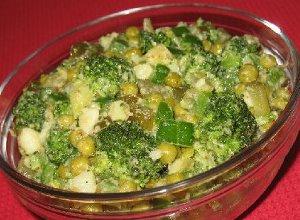 Sałatka zielona z sosem musztardowym - ugotuj