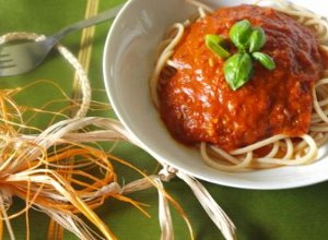 Spaghetti pomidorowe