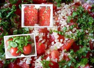 Pomidory krojone z czosnkiem i bazyli�