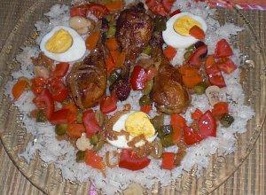Kurczak yassa z ryzem - ugotuj