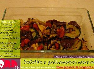 Sa�atka z grillowanych warzyw - ugotuj