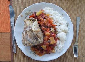 Dorsz duszony na parze z warzywami - ugotuj