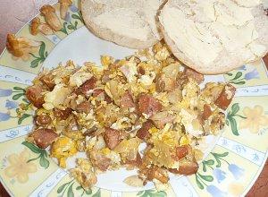 Letnia jajecznica z kurkami