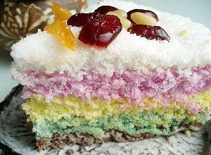 Tęczowe ciasto ryżowe - ugotuj