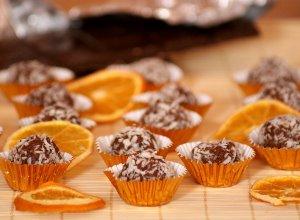 Pralinki czekoladowo-pomarańczowe - ugotuj