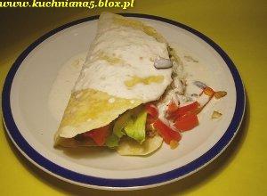 Tortilla z mięsem  i fasolą - ugotuj