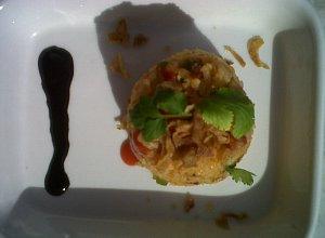 Risotto na ostro z kielbask� i groszkiem - ugotuj
