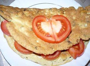 Omlet zio�owy z ��tym serem