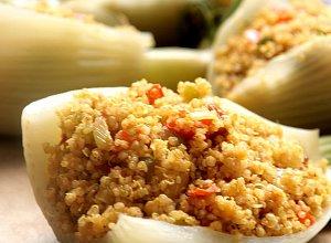 Fenku� faszerowany warzywami i quinoa
