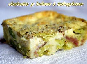 Clafoutis (omlet) z bobem i tu�czykiem