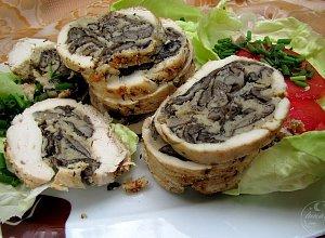 Roladka drobiowa z grzybami - ugotuj