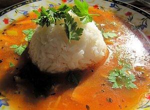Zupa z grzybami i ry�em