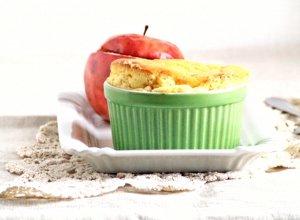 Serowe sufleciki i jab�ka nadziewane granol�