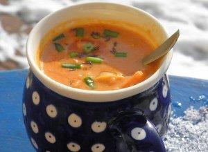 Zupa soczewicowo - kokosowa z chili