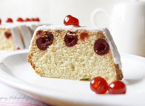 Cytrynowe ciasto z kandyzowanymi wi�niami - ugotuj