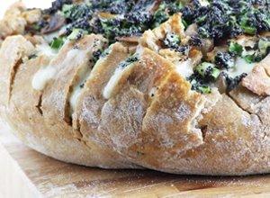 Chleb zapiekany z pieczarkami i serem - ugotuj