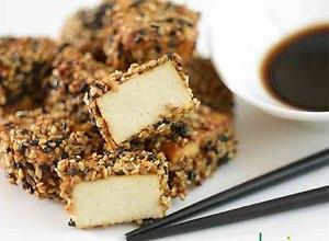 Tofu panierowane w sezamie - ugotuj