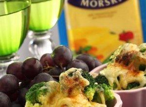 Grillowane broku�y z serem - ugotuj