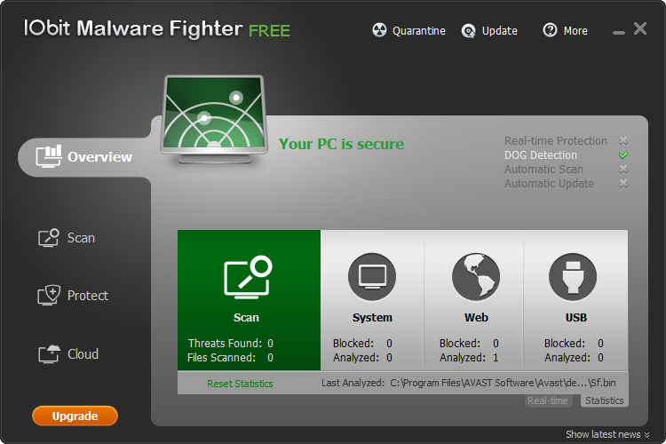 Продукты Advanced SystemCare, IObit Malware Fighter, Game Booster.