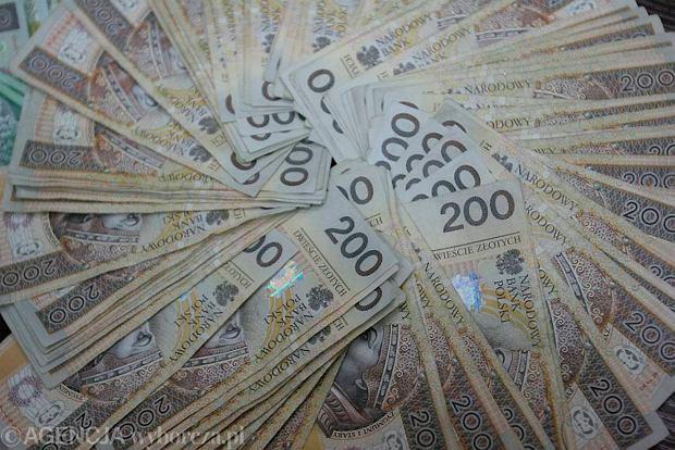 14.12.2004 OLSZTYN PIENIADZE BANKNOTY ZLOTY POLSKI PLN FOT TOMASZ WASZCZUK / AGENCJA GAZETA PLYTA OLSZTYN186 186