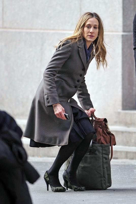 Sarah Jessica Parker na planie filmu I Don't Know How She Does It