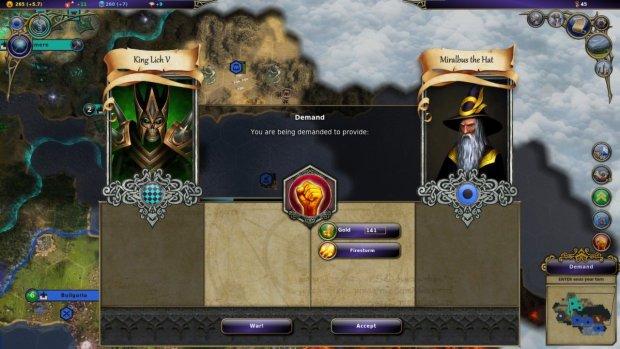Warlock: Master of the Arcane - kadr z gry