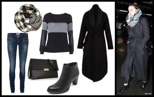 Stylizacja 4.: buty Nessi, płaszcz Caha, bluzka Vissavi, jeansy Vero Moda
