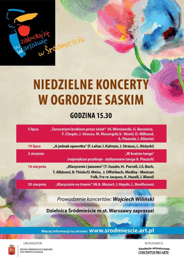 Niedzielne koncerty w Ogrodzie Saskim